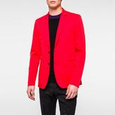 Paul Smith Men's Slim-Fit Red Mercerised-Cotton Stretch Blazer