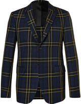 Joseph - Navy Hanford Prince Of Wales Checked Cotton-twill Suit Jacket