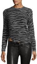 Marc Jacobs Cashmere Tiger-Print Crewneck Sweater
