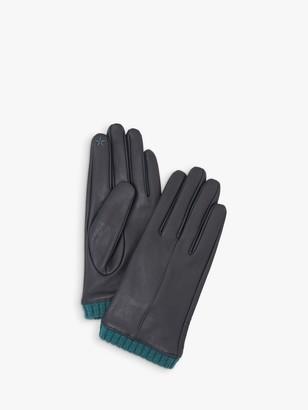 White Stuff Leather Knit Cuff Gloves