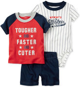 Carter's 3-Pc. T-Shirt, Mommy's All-Star Bodysuit & Shorts Set, Baby Boys (0-24 months)