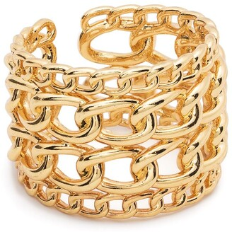 FEDERICA TOSI Layered Cable Link Chain Wide Ring
