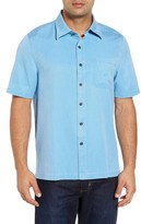 Nat Nast Men's 'Havana Cloth' Regular Fit Short Sleeve Silk & Cotton Sport Shirt