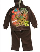 Scooby-Doo Little Boys Cartoon Print Hooded Jacket 2 Pc Pants Set