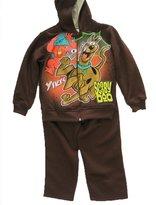 Scooby-Doo Little Boys Cartoon Print Hooded Jacket 2 Pc Pants Set
