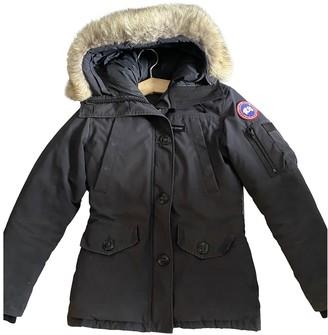 Canada Goose Black Cotton Coat for Women