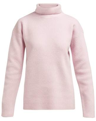 Sies Marjan Wolf Merino-wool Roll-neck Sweater - Womens - Pink