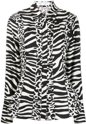 Proenza Schouler White Label Zebra Print Shirt