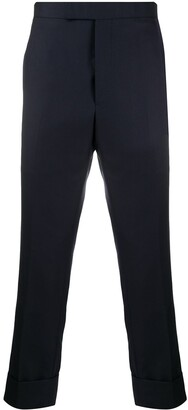 Thom Browne Super 120s Twill Classic Backstrap Trousers