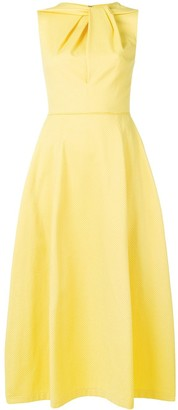 Talbot Runhof textured flared midi dress