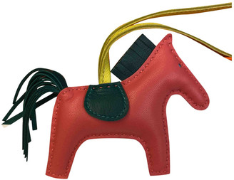 Hermes Rodeo Pink Leather Bag charms