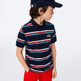 Lacoste Boys Embroidered Logo Striped Polo