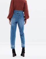 MinkPink Stay True Embroidered Jeans