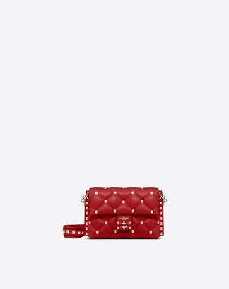 Valentino Garavani Small Candystud Crossbody Bag Women Rosso Lambskin 100% OneSize