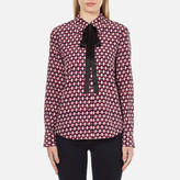 Marc Jacobs Women's Button Down Shirt with Tie Multi