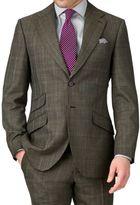 Charles Tyrwhitt Khaki Slim Fit Thornproof Luxury Suit Wool Jacket Size 36 Regular