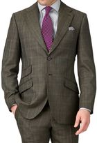 Khaki Slim Fit Thornproof Luxury Suit Wool Jacket Size 36 By Charles Tyrwhitt