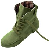 SODIAL(R) Autumn Boots Snow Boots for Women Martin Boots Suede Leather Boots size8.5