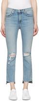 Rag & Bone Blue 10 Inch Stove Pipe Jeans