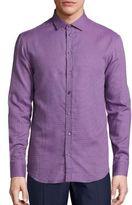 Armani Collezioni Regular-Fit Mini Check Button-Down Shirt
