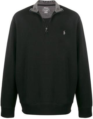 Polo Ralph Lauren Half-Zip Logo Embroidered Sweater