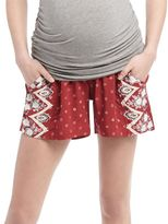 Secret Fit Belly A-line Maternity Shorts