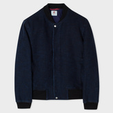 Paul Smith Men's Indigo Heavyweight Slub-Cotton Bomber Jacket