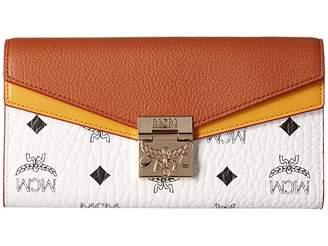 MCM Patricia Visetos Leather Block Flap Wallet/Two-Fold Large