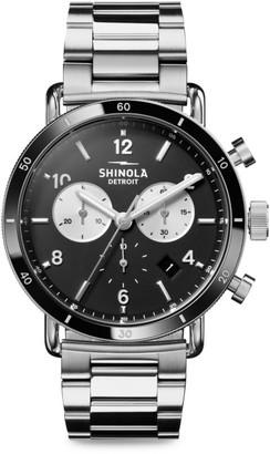 Shinola The Canfield Sport Velvet Dial Stainless Steel Bracelet Watch