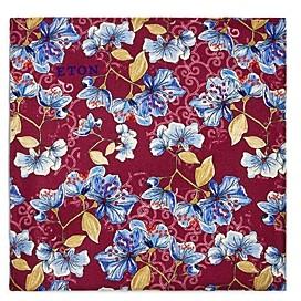 Eton Flowers & Leaves Silk Pocket Square