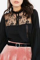 Patent Leather O-Ring Buckle Belt