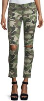 DL1961 Premium Denim Emma Camouflage Distressed Skinny Jeans, Warden