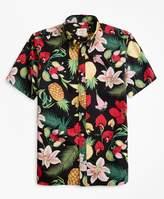 Brooks Brothers Tropical-Print Short-Sleeve Sport Shirt