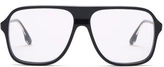 Victoria Beckham Aviator Acetate Glasses - Charcoal