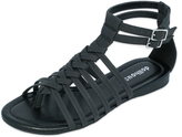 Dollhouse Black Babsy Gladiator Sandal