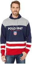 Polo Ralph Lauren Color Block Funnel Collar Sweatshirt (Andover Heather Multi) Men's Clothing