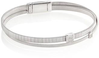 Marco Bicego Masai Diamond & 18K White Gold Two-Row Bracelet