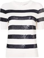 Carolina Herrera sequin short sleeved top