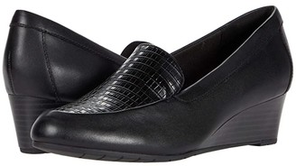 Clarks Mallory Pearl (Black Leather/Synthetic Combination) Women's Shoes