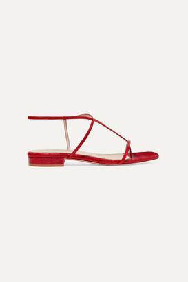 Studio Amelia 1.2 Croc-effect Leather Sandals - Red