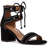 Arturo Chiang Hollis Suede Lace-Up Mini Stud Dress Sandals
