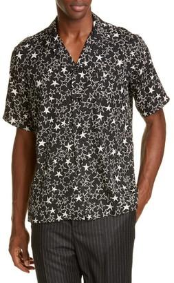 Saint Laurent Star Silk Sport Shirt