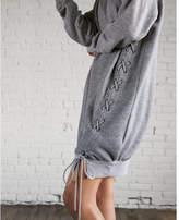 Express lace-up sweatshirt dress