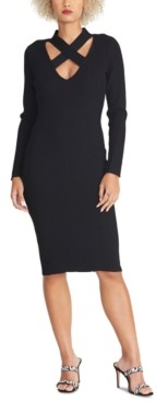 Rachel Roy Cross-Neck Sweater Dress