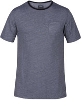 Hurley Men's Beach Break Crew Micro-Stripe Pocket T-Shirt