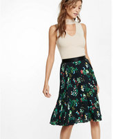Express floral print pleated midi skirt
