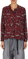 Etoile Isabel Marant Women's Amaria Cotton Voile Blouse-BURGUNDY