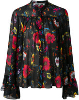 McQ by Alexander McQueen oversized floral print blouse - women - Polyester - 38