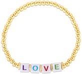 Sphera Milano 14K Yellow Gold Plated Sterling Silver 'LOVE' Ball Beaded Bracelet