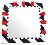 Sassy Floor Mirror in Black/White